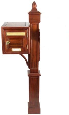 pi tement en acacia massif pour boites aux lettres. Black Bedroom Furniture Sets. Home Design Ideas