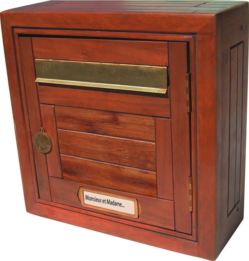 bo tes aux lettres bois normalis e ptt boite aux lettres decoratives en bois usage ext rieur. Black Bedroom Furniture Sets. Home Design Ideas